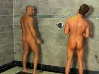 Hot gay We all know what it\'s like sharing a shower when you