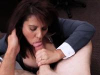 Huge boobs milf sells her stuff and banged in the backroom