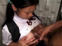 Tanlined tetona colegiala japonesa facefucked