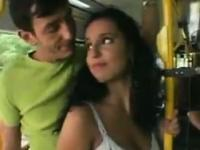 Blowjob And Fucking During A Bus Ride