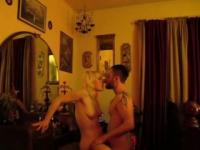Couple enjoy hot and passionate fuck session