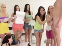 Cfnm students get humiliation cumshot