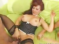 Busty cougars Charlee and Vanessa threesome