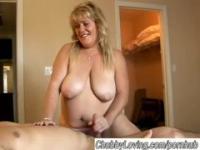 Große schöne busty Blonde BBW