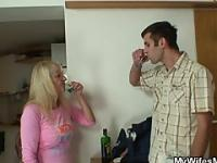 Son in law fucks her after couple of drinks