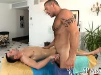 Deep oral-service for homosexual boy