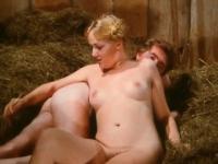 Blonde retro Bavarian girl fucked in the barn