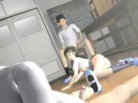 Geile 3D Anime Strumpet Fahrt Dick