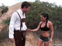 Deutscher Tourist liebt ficken American Muschi
