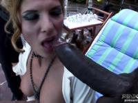 Two Cocks on Italian Star Nadia Macri