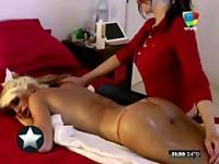 Analissa Santi massages Vicky Xipolitakis