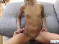 Blondie Kacey intimate sex filmed in POV with 3D sound technology