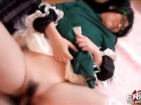 Linda cosplayer japonesa obtiene golpeaba y cumswallows una carga pegajosa