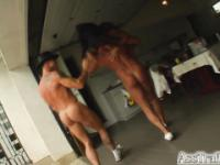 Asian chick's ass owned by two horny guys