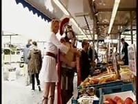 Orgie auf einem römischen Markt