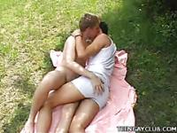Twinks Outdoor Stroking