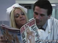 Horny doctor seduces big boobed nurse in the x ray room