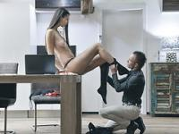 Secretary and her boss enjoying unforgettable sex inside the office