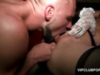Stockinged VIP hoe cunt licked and fucked