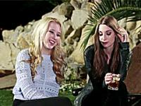 Teens Ela and Samantha celebrate