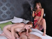 Darla Crane threesome sex with stepson