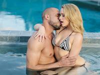 Mia Malkovas sexy ass receives a hot and sticky jizz after sweet kisses