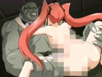 Caught hentai hot drilled and poking by monster and tentacles