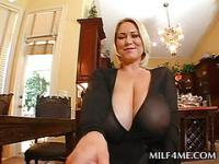 Seducing MILF sucking huge cock in POV style