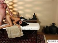 Tight Nikki Daniels screwed by masseur
