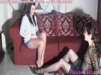 Italian babe tickles feet