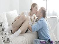 Skinny teeny cum drenched
