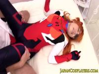 Japanese ginger creampied after doggystyle