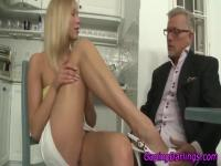 Sexy ass ho gives footjob