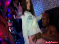 Eurobabe interracially fucked at dance party