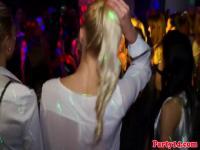 Amateur Partei Eurobabes lecken Muschi in einem Club