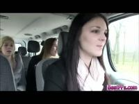 Very Lovely Girls gets laid on a road trip together with a random guy