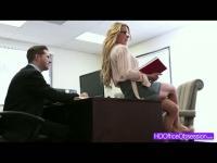 Horny secretary Corinna Blake gets fucked hard in the office