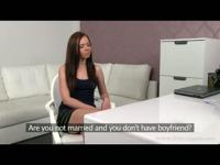 Czech young girl in a casting with fake agent