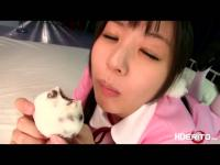 Small asian babe gets fucked in her first time friend visita