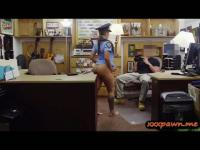 Lady police posing sexy on cam n fucked