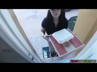 Kimber delivers food and gets banged