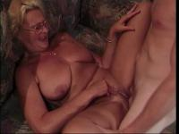 Mature blonde fucked by thick cock