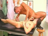 Cock sucking doctor and patient ass fucking