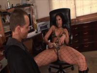Sexy brunette MILF 69's, gets a nice load from her hung man