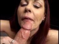 Horny red head rubs her wet pussy