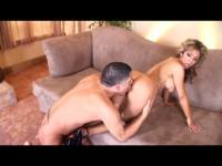 Latina with perfect ass does it doggystyle