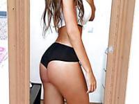 Hot Twerking Girl In Pink Thong