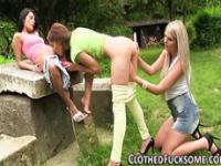 Glamour lesbians threeway