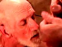 Bluecollar mature drooling on cock
