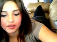 Pretty Face On Webcam